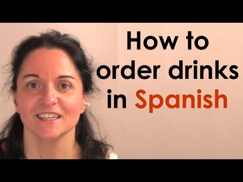 How to order drinks in Spanish