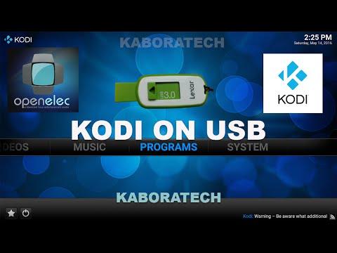 HOW TO RUN KODI from USB FLASH DRIVE