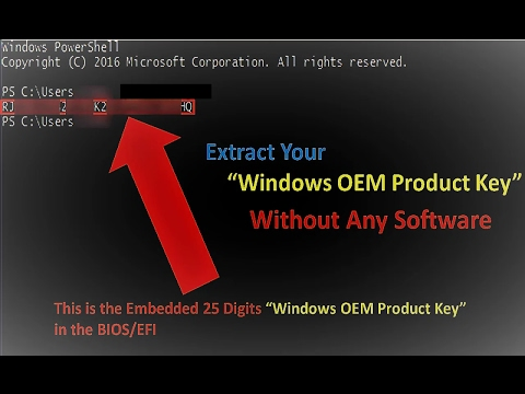 How To Extract OEM (PRE-INSTALLED) Product Key From BIOS Without Any Software (EASY WAY) ||2017||