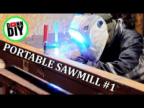 Homemade Portable Band Sawmill Build #1 - Trailer Sides