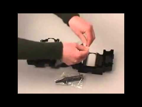 How to change ribbon for Nisca 5350 card printer