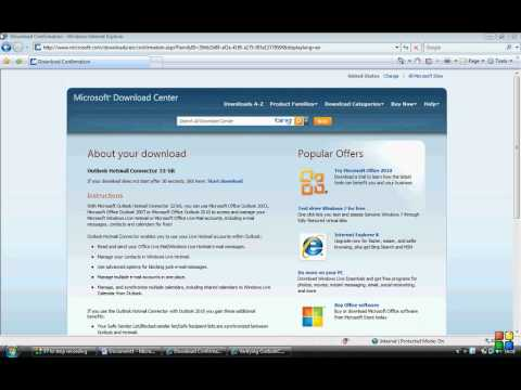 HOW TO SETUP OUTLOOK 2007 TO RUN OFF EMAIL/MSN