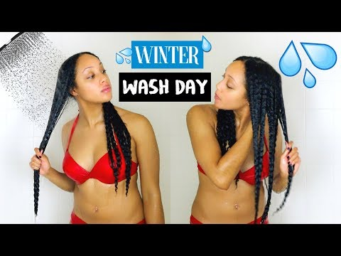 WINTER WASH DAY ROUTINE for Moisture & Length Retention