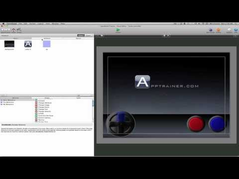 GameSalad Tutorial: Creating on screen game controls Part 2 of 6 (AppTrainer.com)
