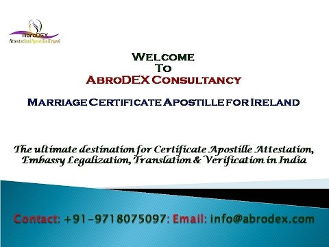 Marriage Certificate Apostille for Ireland