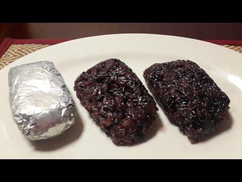 Thai Dessert Black Sticky rice with Banana..Video Recipe..(Kao Tom Pad) ...Alina's cooking CV.42