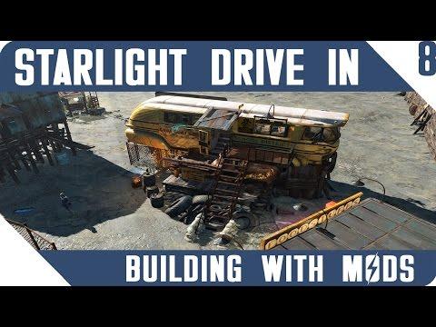 FALLOUT 4 | School Bus Gun Shop! | Building With Mods