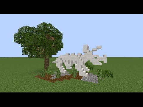 Tutorial: Minecraft Dinosaur Skeleton Triceratops