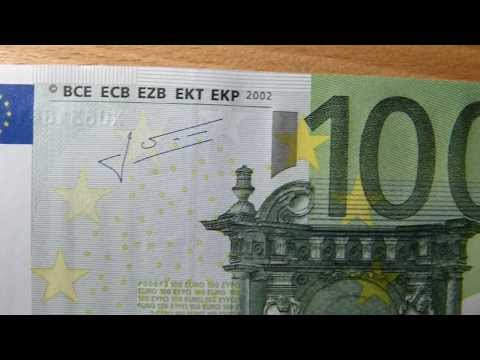 100 EURO bill / banknote review