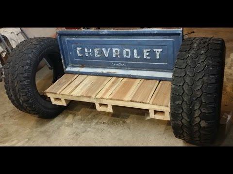 Homemade Rocking Tailgate Bench