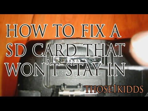 How to Fix SD Card Slot - SD Card won't lock or stay in