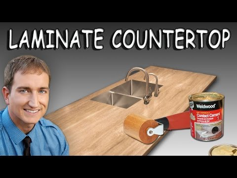 How To Install Sheet Laminate On A Countertop