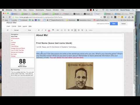 How to Edit a Page on Google Sites