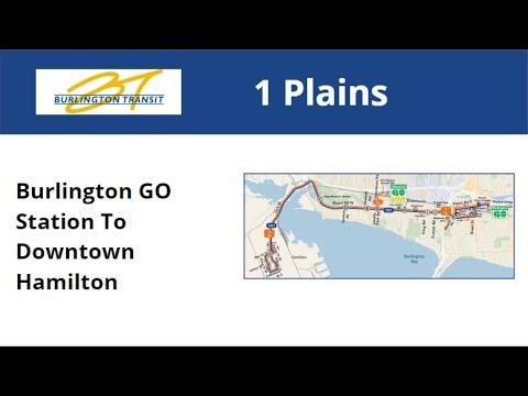 Burlington Transit 2007 NFI D40LF #7039-07 On 1 Plains (Burlington GO To Downtown Hamilton)