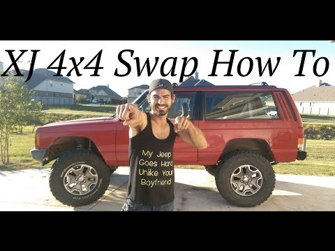 XJ 4x4 Swap Complete How To - 2WD Conversion - Not done but close enough