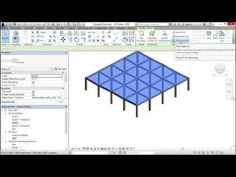 058 Pitching floors to structure