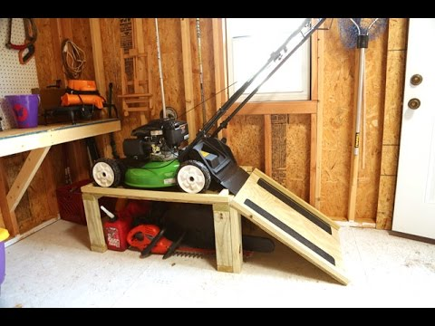 Storage Caddy for Lawn Mower and Yard Tools