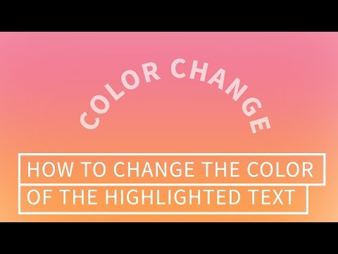 CSS Selection Color (Change Color of the Selected or Highlighted Texts | Quick Tutorial )