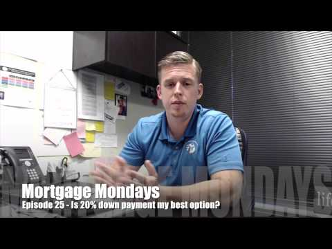 Is 20% down payment my best option? | Mortgage Mondays #25