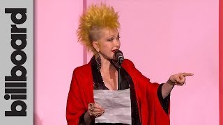 Cyndi Lauper Presents Billie Eilish With The Woman of the Year Award | Women In Music