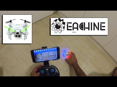 Eachine E10WD Mini FPV Quad Review - Unboxing & Flight - Banggood