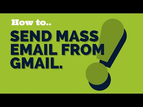 How to send mass email from gmail unlimited
