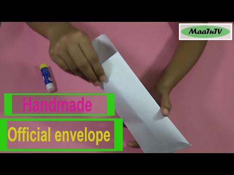 How to make an envelope | Origami | Easy paper cutting | Step by step | DIY – MaaTuTV