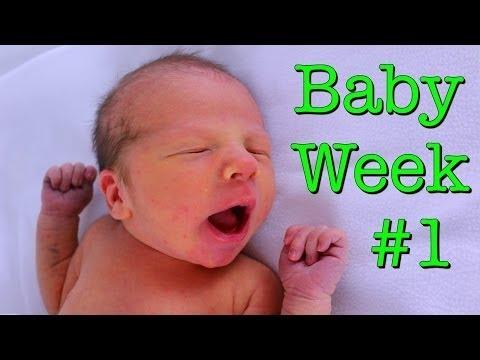 BABY WEEK #1 ❤ Newborn Baby Boy First Week of Life Taking Care of Baby DisneyCarToys