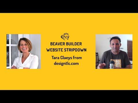 Beaver Builder Website Stripdown #09 - Tara Claeys from designtlc.com