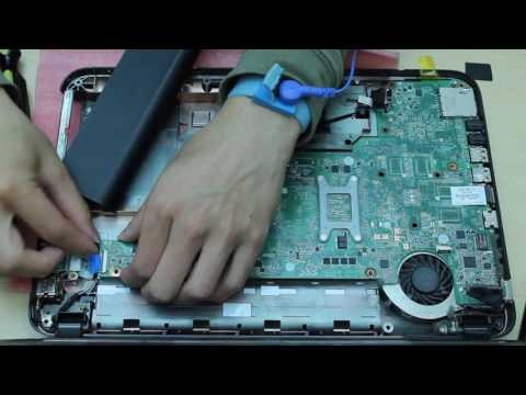 HP pavilion g4-2235dx g4-2000 series laptop disassembly remove motherboard/cooling fan etc.