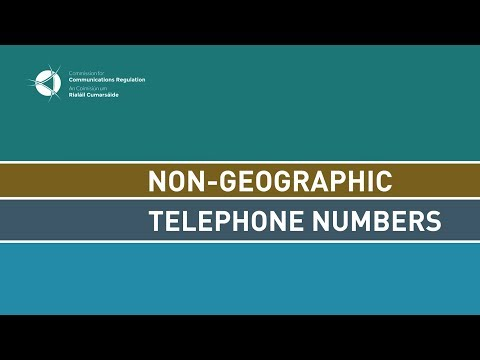 Review of Non-Geographic Numbers