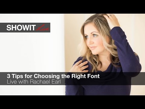 LIVE: 3 Tips for Choosing the Right Font with Rachael Earl