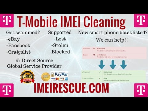 How To Fix Blacklisted T-Mobile iPhone 6s IMEI Cleaning Blacklist Repair Unblock Unblacklist Fix