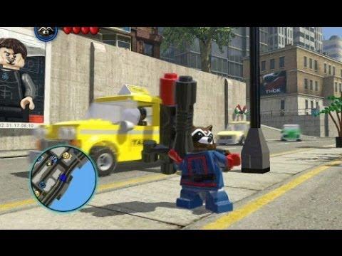 LEGO Marvel Super Heroes - Unlocking Rocket Raccoon (All 3 Rocket Raccoon Missions)