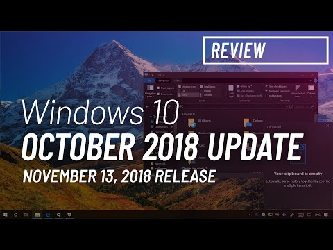 Windows 10 October 2018 Update, version 1809, new features