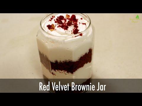 Red Velvet Brownie Jar | Sanjeev Kapoor Khazana