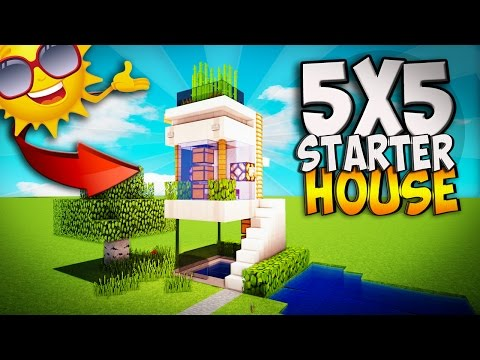 MINECRAFT: HOW TO MAKE A BEAUTIFUL MODERN HOME, EASY AND FAST | HOME TUTORIAL