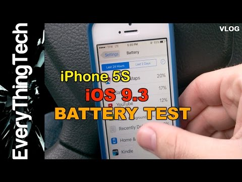 iPhone 5S iOS 9.3 Battery Test [VLOG]