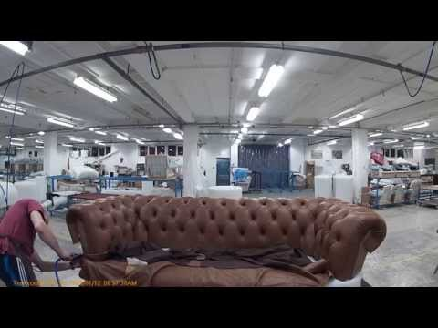 tufting a chesterfield sofa part 2