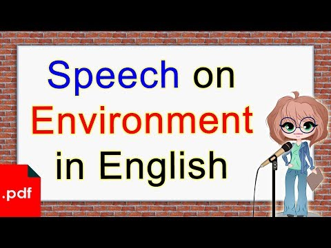 Speech on Environment in English | Click How