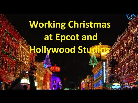 Working Christmas at Epcot and Hollywood Studios - Ep 36 Confessions of a Theme Park Worker