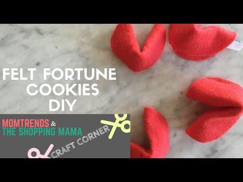 Craft Corner: Felt Fortune Cookie DIY