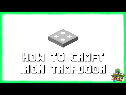 Minecraft 1.12.2: How to Make IRON TRAPDOORS! Recipe Tutorial for Minecraft Minecraft 1.12.2 | 2018