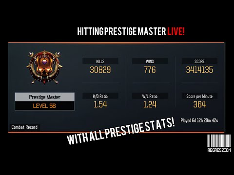 Hitting Prestige Master Live! With Stats (Black Ops 3 Multiplayer)