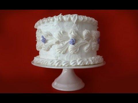 Meringue Birthday Cake (Wind Torte) Recipe by Ann Reardon - How To Cook That Ep 042
