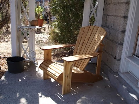 Building Adirondack/Muskoka Chairs - Part 1 of 3