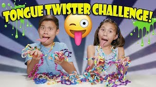 TANGLE TONGUE TWISTER CHALLENGE!!! Loser gets SLIMED!