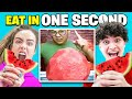 Try To Eat In 1 Second Challenge Sommer Ray Vs FaZe Jarvis