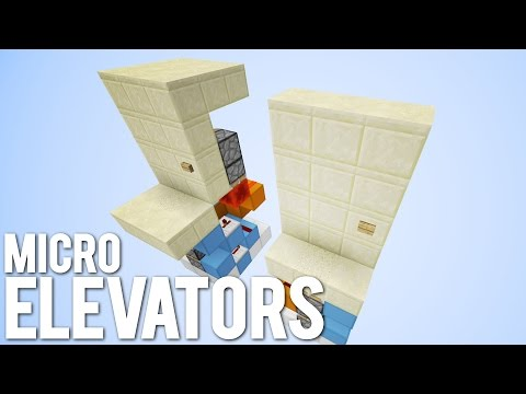 Minecraft: 3 Tiny Piston Elevators!