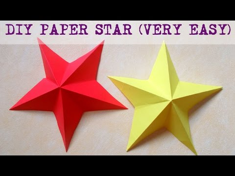 DIY Paper Crafts: How to make a paper star 3D in less than 5 minutes | Home decor | Wall decor